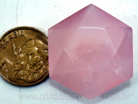 Estrela De Davi Ou Selo de Salomão Quartzo Rosa 5 a 20 Gr Reff 110780