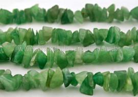 Fio Quartzo Verde Pedra Rolada Furado 90 cm Pedras Com Furo Manual no Centro da Pedra
