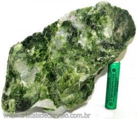 Epidoto Verde Filamento na Matriz Cristal Quartzo Cod 107538