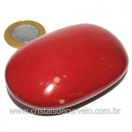 Sabonete Massageador Jaspe Vermelho Pedra Natural Cod 114294