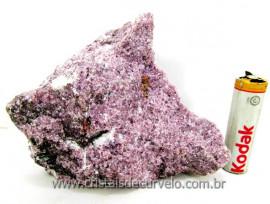 Lepidolita Mica Mineral Para Colecionador Pedra Natural de Garimpo Cod 433.2