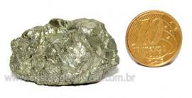 Pirita Natural Pedra Comum Cubos Cor Ouro a Cinza Cod PC6515