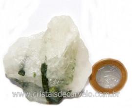 Turmalina Verde Canudo Extra Incrustado no Quartzo Cod 118365