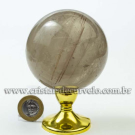 Bola Cristal Inclusão Rutilo Natural Esfera Especial 120471