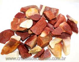 1kg Cascalho Quartzo Vermelho Bruto P/ Orgonite Reff 109395