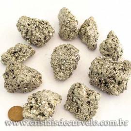 05 Pirita Peruana 45mm Pedra Bruta Natural P/ Orgonite ATACADO