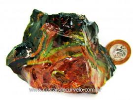 Jaspe Verde Pedra de Garimpo Cor Forte e Natural Ideal Colecionador Esoterismo Cod 234.6