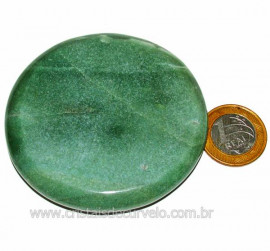 Massageador Disco Quartzo Verde Pedra Natural Cod 103291
