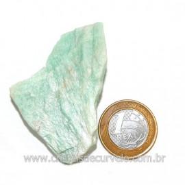 Amazonita Verde Comum Bruto da Família Feldspato Cod 126221