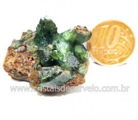Ludlamita Pedra Matriz Siderita Bruta Natural Coleção Cod 127888