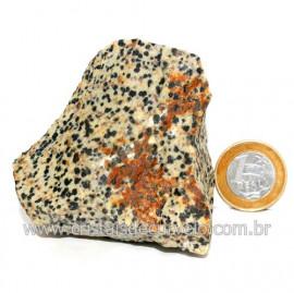 Jaspe Dalmata Pedra Natural Mineral de Esoterismo Cod123301
