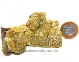 Mica Drusa Amarela Feldspato Pedra Bruta Natural Cod 111146