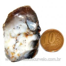 Agata Com Dendrita Pedra Calcedonia Natural de Coleção Cod 123712