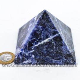 Pirâmide Pedra SODALITA Grande Baseada Queops Cod 120741
