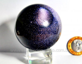 Esfera Pedra Estrela Pigmentado Cintilante Azul Cod PE4992