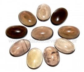 10 Cabochao Oval PEDRA FUMÊ Pedra Lapidado Semi Calibrado 17 x 12 MM