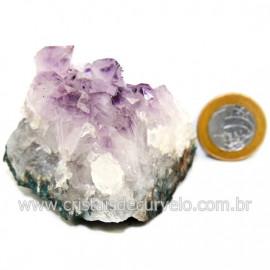 Drusa Ametista Pequena Pedra Natural Boa Cor Cod 127704