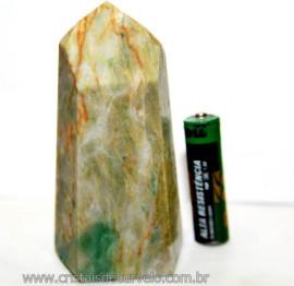Ponta Nefrita Lapidado Pedra Natural de Garimpo Cod 101466