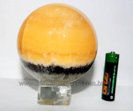 Esfera Calcita Mexicana Pedra Natural de Garimpo Lapidada Cod EM6087