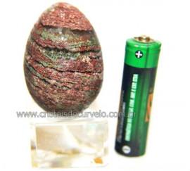 Ovo Clorita Verde Pedra Natural Para Colecionador Cod 110587