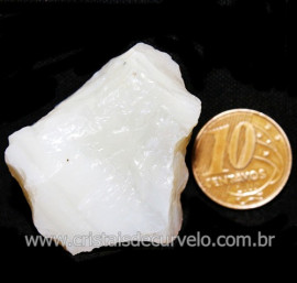 Opala Branca Pedra Genuina P/Coleçao ou Lapidaçao Cod 123809