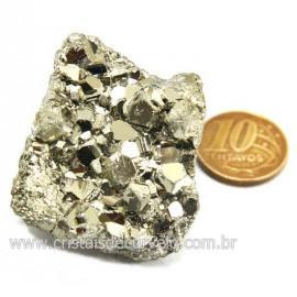 Pirita Peruana Pedra Extra Com Belos Cubo Mineral Cod 124226
