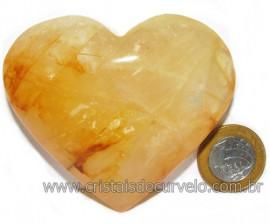 Coração Hematoide Amarelo Natural Presente Ideal Cod 116023