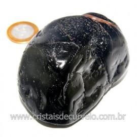 Massageador De Seixo Pedra Onix Preto Natural Cod 123857
