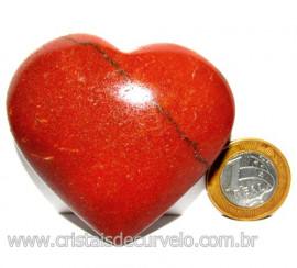 Coração Quartzo Vermelho Pedra Natural de Garimpo Cod 113962