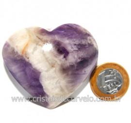 Coração Chevron Extra Pedra Natural de Garimpo Cod 119144