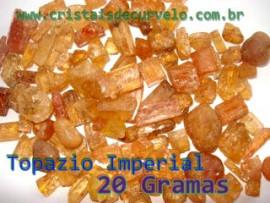 Topázio Imperial Miudo Pacote 20Gr Origem Ouro Preto MG Ideal colecionador