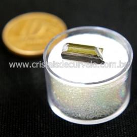 Turmalina Verde Bruta Pedra Natural No Estojo Cod 127662