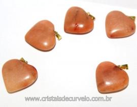 05 Pingentes Coração Amazonita Rosa Dourado Reff 106292