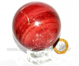 Esfera Dolomita Vermelha Pedra Mineral Natural Cod ED6339