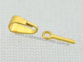 10 Pino e Presilha Dourado Pronto Para Montagem de Pingente ATACADO