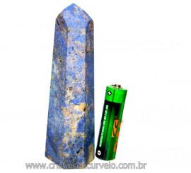Ponta Dumortierita Pedra Natural Gerador Sextavado Cod PD8884
