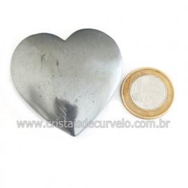 Coração Hematita Pedra Natural Lapidação Manual Cod 121872