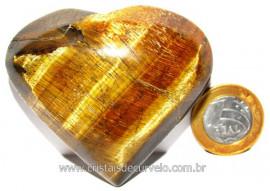 Coração Pedra Olho de Tigre Natural Origem Africa Cod CT5480