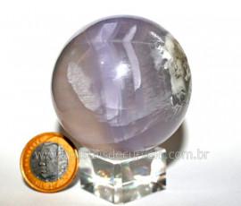 Esfera ou Bola Fluorita Multicolor Pedra Natural Cod BF3027