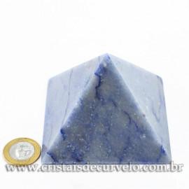 Pirâmide GRANDE Pedra Quartzo Azul Natural Queops cod 120747