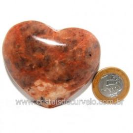 Coração Amazonita Pêssego Pedra Natural de Garimpo Cod 119053