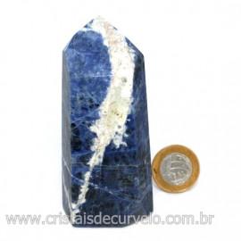 Ponta Sodalita Pedra Natural Gerador Sextavado Cod 126545