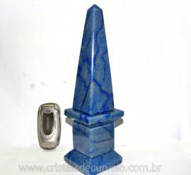 Obelisco Quartzo Azul Gigante Pedra Natural Lapidação Manual Cod 1.177