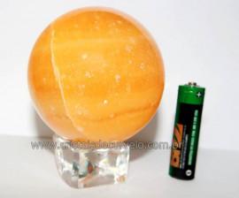 Esfera Calcita Mexicana Pedra Natural de Garimpo Lapidada Cod EM6307