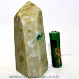 Ponta Nefrita Lapidado Pedra Natural de Garimpo Cod 101463