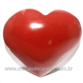 Coraçao Jaspe Vermelho Pedra Natural de Garimpo Cod 118255