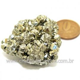 Pirita Peruana Pedra Extra Com Belos Cubo Mineral Cod 119265