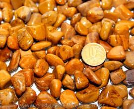 Jaspe Amarelo Rolado Tamanho Pequeno Pct 1kg Reff JR3126