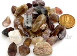 Super Seven Cacoxenita Rolado Pedra NaturalTamanho Medio Pacotinho 20 Gr