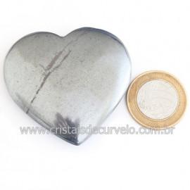 Coração Hematita Pedra Natural Lapidação Manual Cod 121885